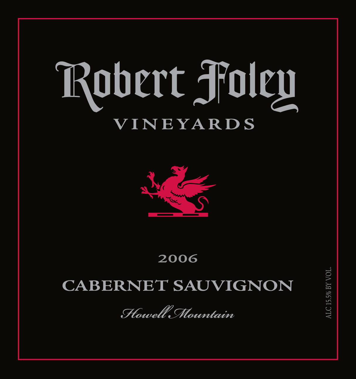 LIBRARY: Cab Sauv (Howell Mountain) 2006 - 1.5L